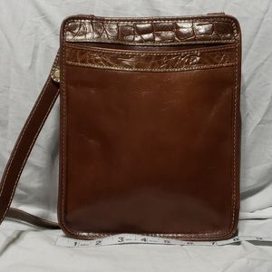 Brahmin euc brown crossbody bag small sharp